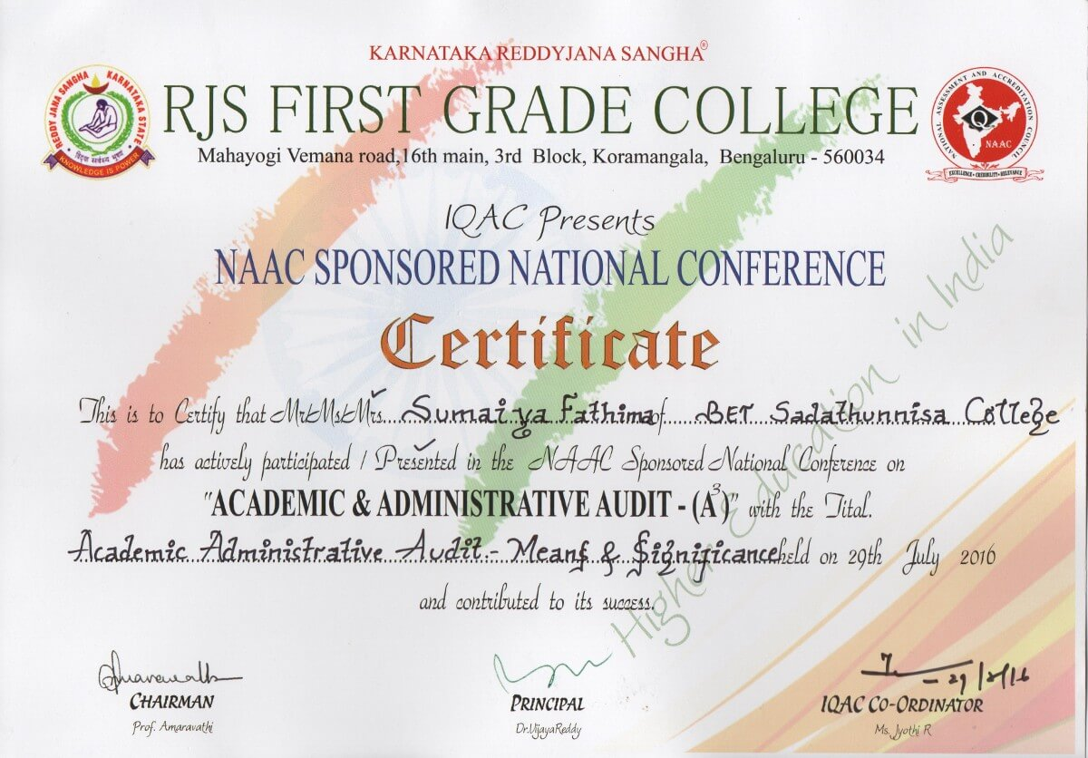 RJS First Grade College – BET Degree College