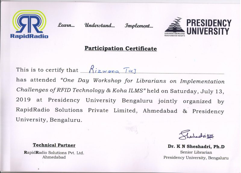 Workshop for Librarians