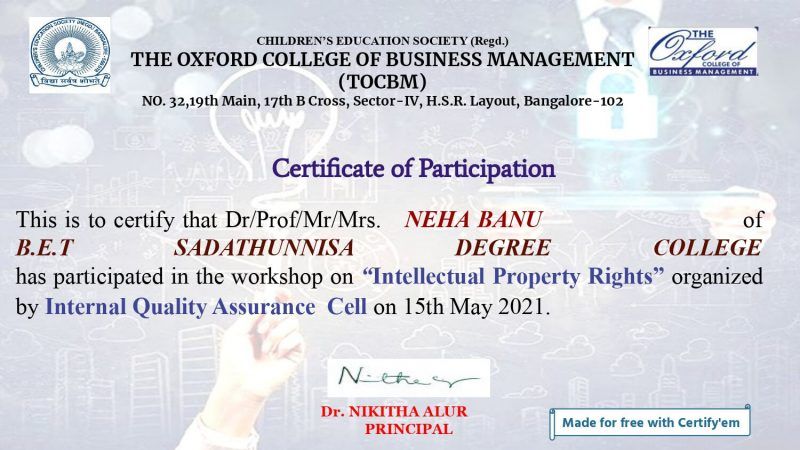 Certificate for NEHA BANU for _Intellectual Property Rights__page-0001 (1)